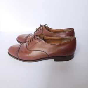 Salvatore Ferragamo Brown Oxfords Dress Shoes